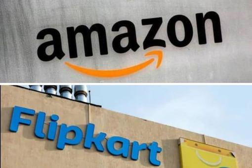Amazon and Flipkart logo used for representation.