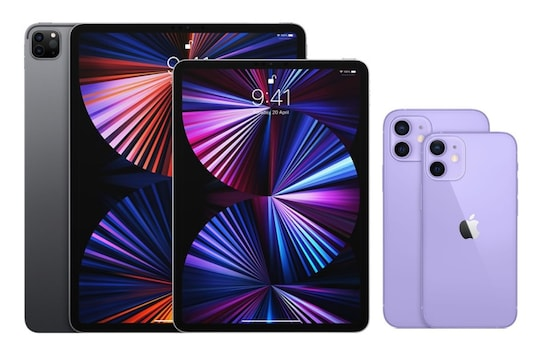 Apple M1-powered iPad Pro and iPhone 12 models in purple finish