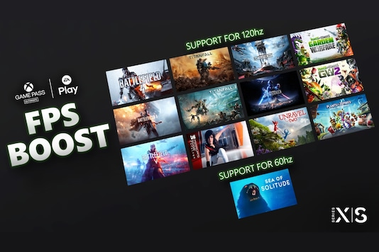 The list of new Xbox Series X and Series S games that support FPS Boost. (Image: Microsoft)