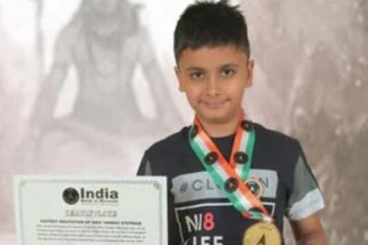 9-year-old Delhi boy sets record. (Credit: ANI/Twitter)