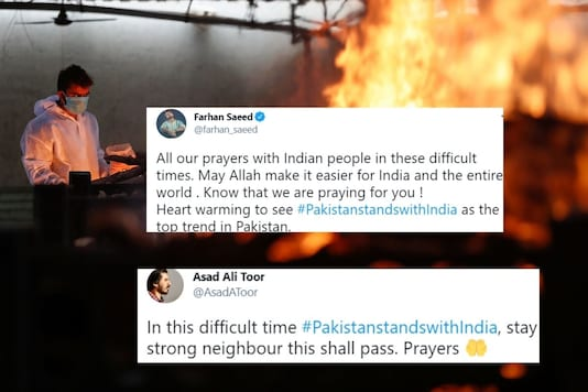 Netizens in Pakistan also appealed to their authorities to provide help to India in any way they can.