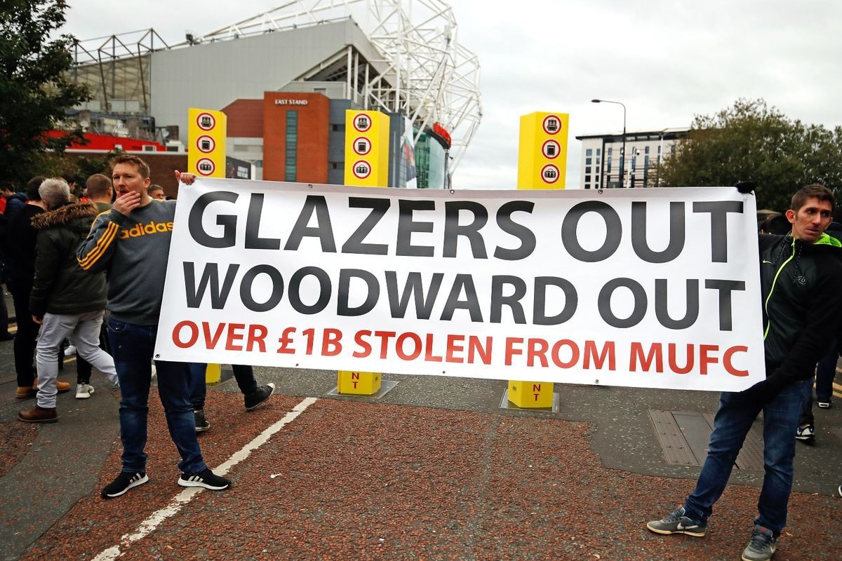 Manchester United Fans Protest against Glazer Family's Ownership