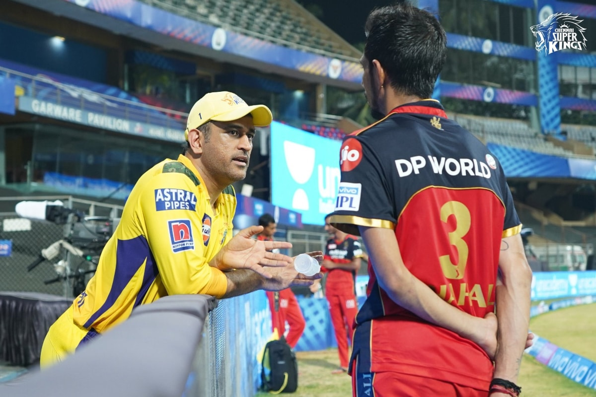 IPL 2021: RCB Legspinner Yuzvendra Chahal Reunites With CSK Captain MS Dhoni | See Picture thumbnail