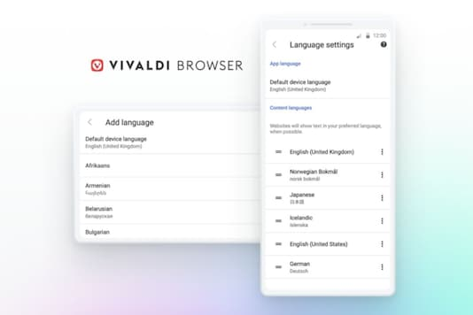 Vivaldi browser and Android app