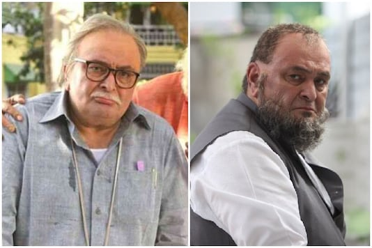Rishi Kapoor  in 102 Not Out (L) and in Mulk.