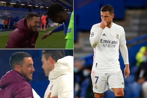 Real Madrid's Eden Hazard Jokes with His Ex Chelsea Teammates after UEFA Champions League Loss