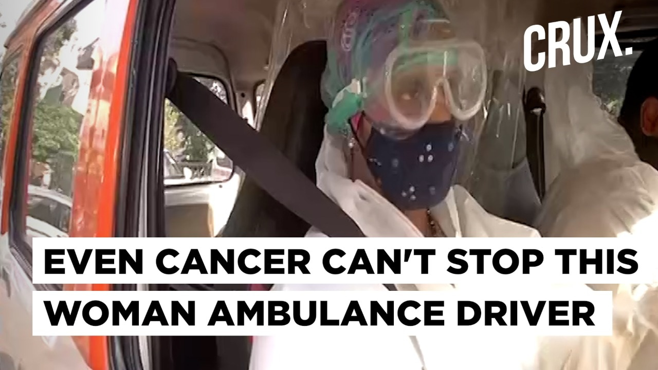 Despite Cancer, Delhi's 1st Woman Ambulance Driver Is Serving Covid Patients For Free