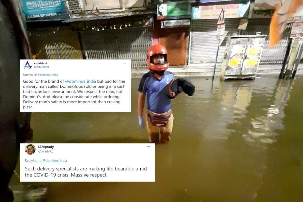 डोमिनोज ने कोलकाता के भारी बाढ़ के दौरान डिलीवरी बंद करने के लिए अपने 'फूड सोल्जर' को 'सैल्यूटिंग' ट्विटर विभाजित किया