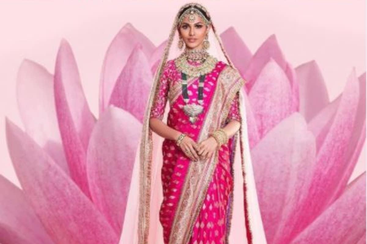 Adline Castelino Looks Stunning in a Saree Designed by Shravan Kumar at 69th Miss Universe