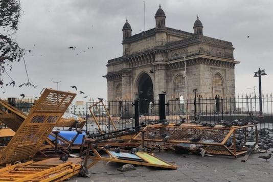 Visuals from Gateway of India as cyclone hits Mumbai.