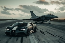 This Race Between Dassault Rafale Fighter Jet and Bugatti Chiron Pur Sport is Fun to Watch