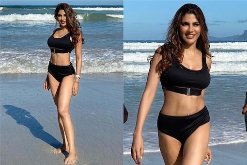 Nikki Tamboli Soaks Up The Sun In Sexy Bikini, Check Out Diva Acing Beachwear Look