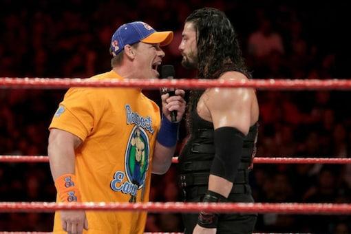 John Cena and Roman Reigns (Photo Credit: WWE)
