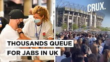 Vaccine Rush With No Social Distancing In UK Amid Warnings Of A Third Wave