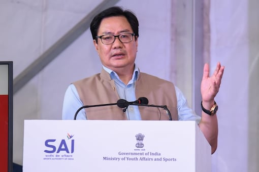 """Speaking at the occasion, Rijiju said, """"Olympics is the platform where the best in the world will compete. I hope our athletes will make their best effort and make the country proud by winning medals."""" (Pic Credit: Twitter/Kiren Rijiju)"""