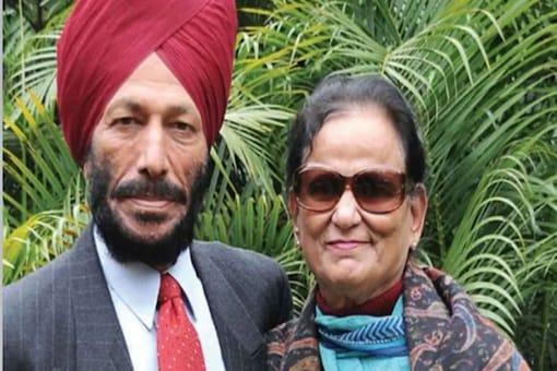 Milkha Singh and wife Nirmal (Photo Credit: Twitter)