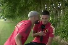 Atletico Madrid's Yannick Carrasco Crashes Eden Hazard's Interview to Troll Him About La Liga Triumph