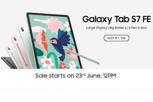 Samsung Galaxy Tab S7 FE (Image: Amazon India)