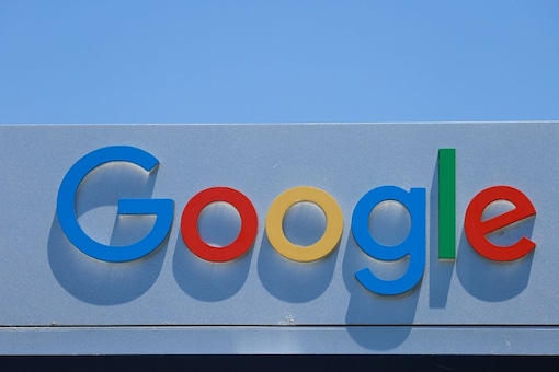 An image shows Google branding at one of the company's office. (Image Credit: Reuters)