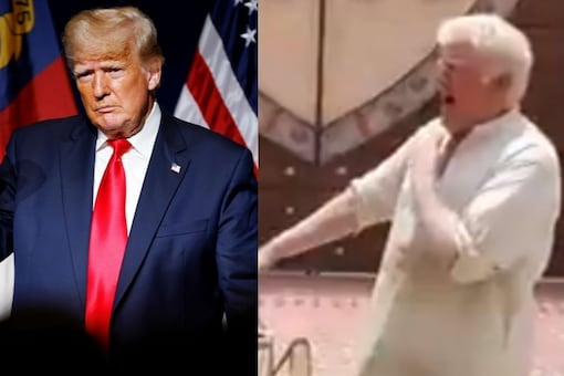 Donald Trump lookalike has been found in Pakistan and is known as 'Chacha Bagga' locally. (Credit: Twitter)