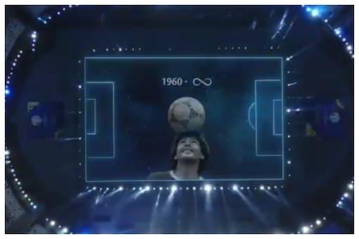 WATCH   Diego Maradona Gets a Tribute at Argentina's Copa America match