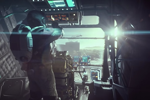 A still from the cinematic trailer of Starfield, Bethesda's first major new game universe in 25 years, unveiled at E3 2021. (Image: Microsoft)