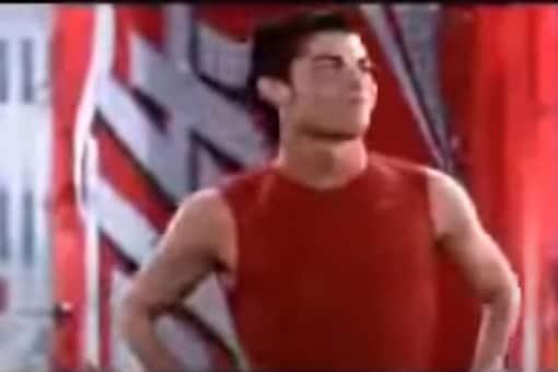 Screenshot of Ronaldo in old Coca Cola ad/YouTube.