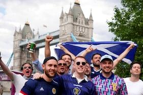 WATCH   Scotland's 'Tartan Army' Takes Over London Ahead of Euro 2020 Clash Against England