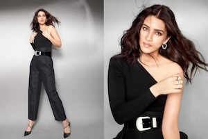 Kriti Sanon Looks Mesmerising In All-Black Outfit, See The Actress Slay It Hard With Style