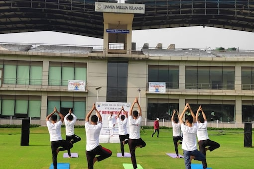 Jamia conducts yoga session for students, faculty