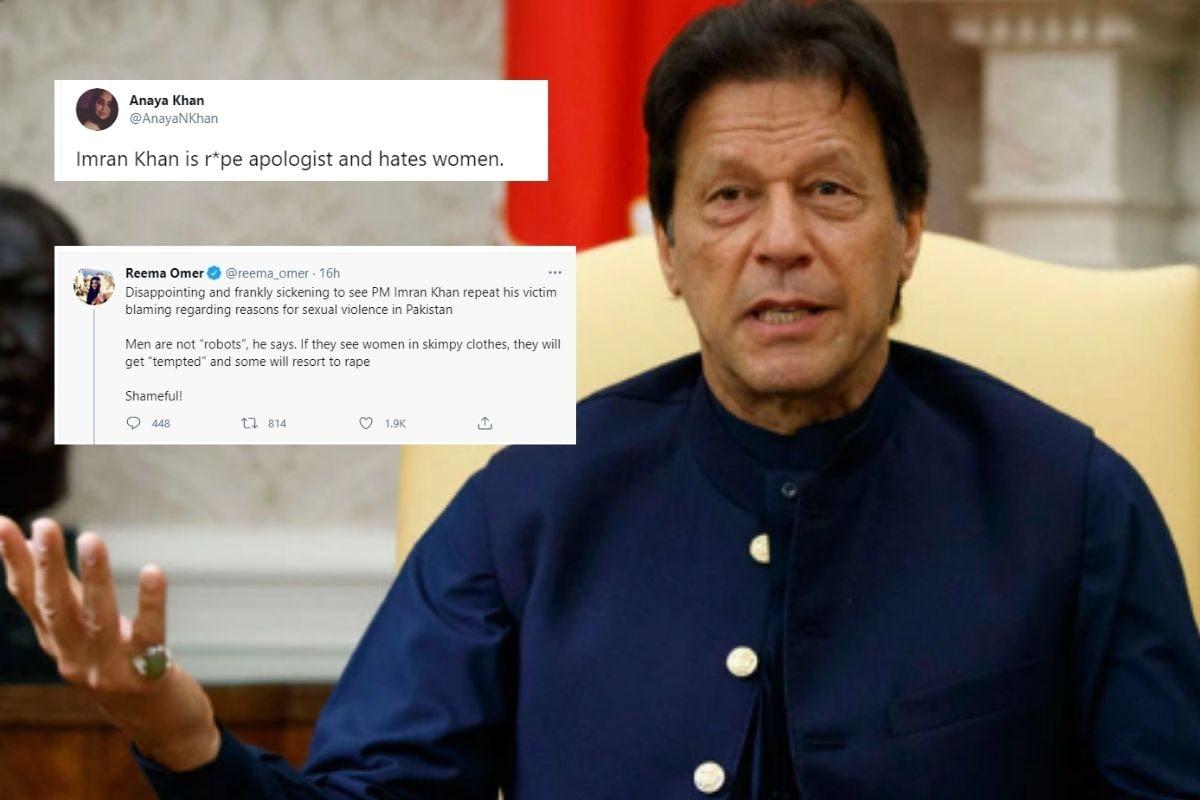 रेप पर पाक पीएम इमरान खान की टिप्पणी की खिंचाई