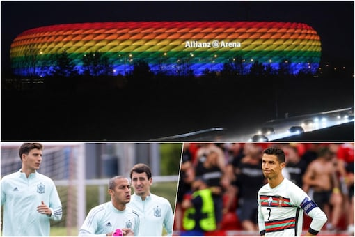 Spain and Portugal Risk Early Exits at Euro 2020, Eainbow Eow Overshadows Germany Game (AP. AFP, Twitter)