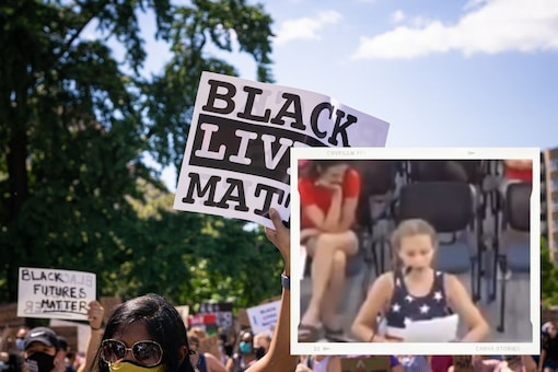 Novalee said she does not agree with BLM's ideology and that it makes people racist. (Credit: Screengrab from Youtbe)
