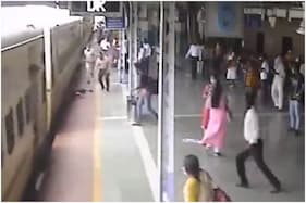 WATCH: RPF Personnel Saves Man from Falling Under Moving Train in Mumbai, Piyush Goyal Shares Video