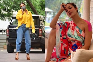 Malaika Arora Makes Chic Fashion Statement In Yellow Shirt And Mom Jeans, See Her Sexy Pictures