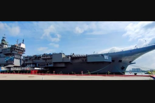 The indigenous Aircraft Carrier (IAC) which is in advanced stages of construction by the Indian Navy.