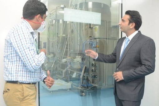 SII CEO Adar Poonawalla at the Pune facility of his firm.