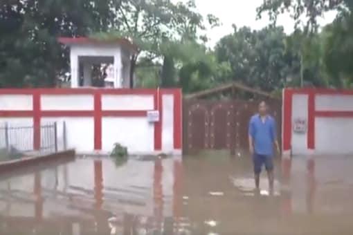 Visual from outside Bihar Deputy CM Renu Devi's house.