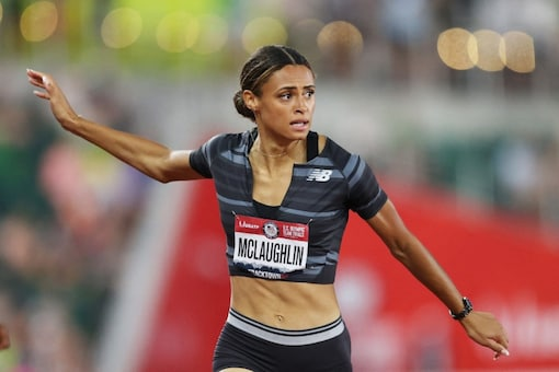 Sydney McLaughlin wins the Women's 400 Meters Hurdles (AFP)