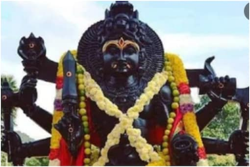 Lord Bhairav is believed to be a fierce and wrathful incarnation of Lord Shiva.
