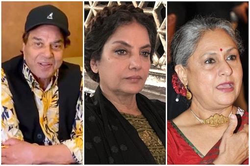 Dharmendra, Shabana Azmi and Jaya Bachchan.