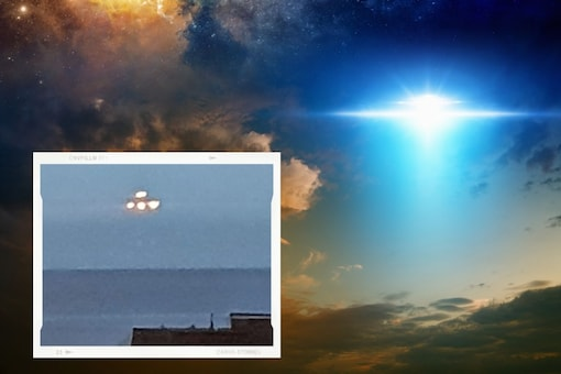 Matthew Evans, 36, spotted the bright unidentified object while peering out of his top-floor flat window in Teignmouth, Devon, UK. (Image Credit: Screengrab from SWNS)
