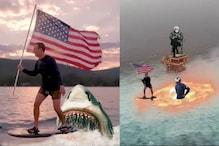Facebook CEO Mark Zuckerberg 'Flagged' With Memes For Fourth of July Surfing Photo
