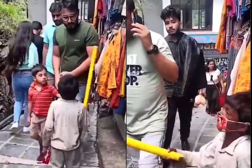 A video of a little boy scolding people not wearing face masks in a crowded place in Dharamshala has gone viral. (Credit: @iPradeepSangwan/Twitter)