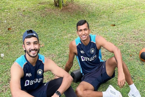 India and RCB pacer Navdeep Saini wished Devdutt Padikkal a very happy birthday.