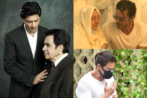 Dilip Kumar's 'Mooh Bola Beta' Shah Rukh Khan Consoles Saira Banu as Both Mourn the Loss of the Legend