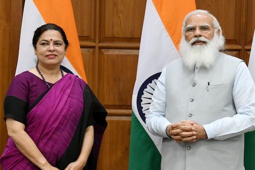 Meenakshi Lekhi with PM Narendra Modi
