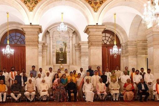 The New PM Modi cabinet (PTI)