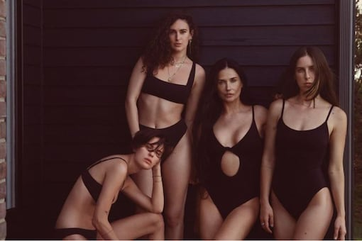 Demi Moore's 'Iconic' Swimsuit Campaign With Her Daughters Breaks the Internet
