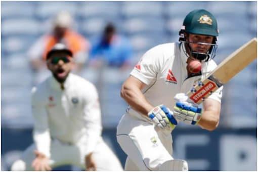 Australian left-handed opening batsman Shaun Marsh.